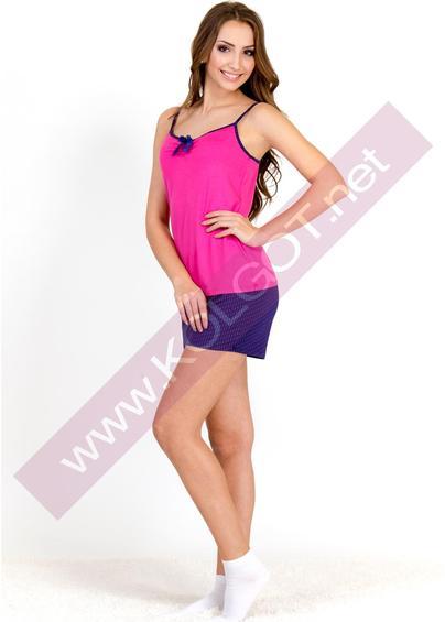 Домашняя одежда Домашний комплект майка + шорты Bright Color 01311 <span style='color:#ff0000;'>Распродано</span>- купить в Украине в магазине kolgot.net (фото 1)