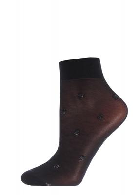 Класичні жіночі шкарпетки в великий горох TM GIULIA LN-02 (Lurex) calzino 40