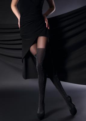 Фантазийные колготки с имитацией чулок с блеском TM Giulia GLOSS UP 60