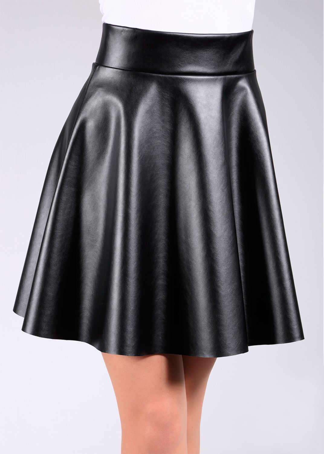 Юбки Mini skirt leather model 1