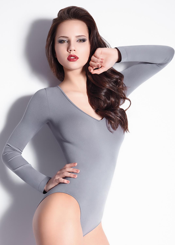 Боди женское Body scollo v manica lunga