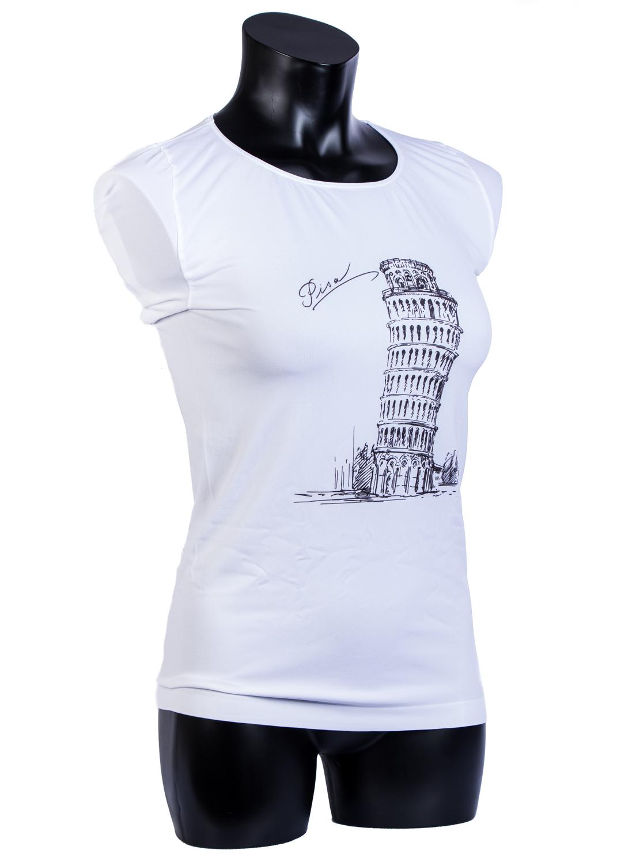 Футболки женские T-shirt s/t manica corta light print p0016