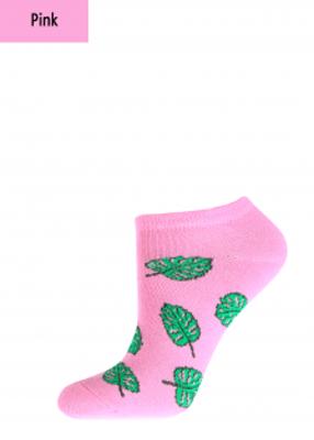 Укороченные женские носки с рисунком листики TM GIULIA WSS-011 calzino
