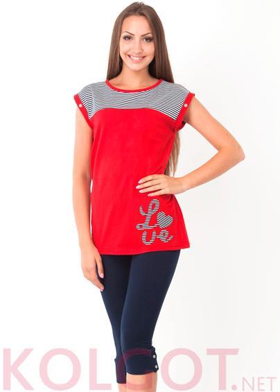 Одежда для дома и отдыха Домашний комплект джемпер+бриджи Love 02404П <span style='color:#ff0000;'>Распродано</span>- купить в Украине в магазине kolgot.net (фото 1)