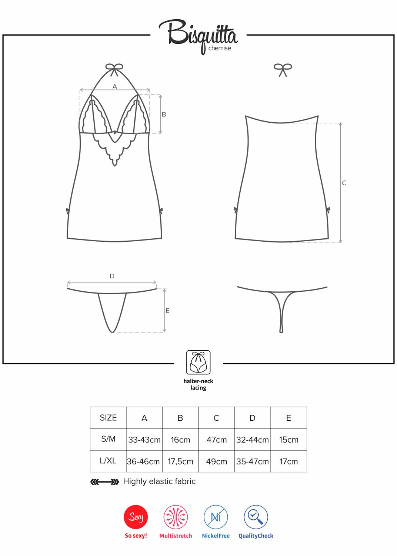 Эротическое белье  bisquitta chemise вид 5