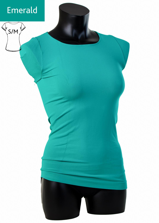 Футболки женские T-shirt scollo tondo manica corta вид 7
