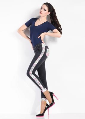 Леггинсы со вставками в джинсовом стиле ТМ GIULIA LEGGY BLOOM model 3