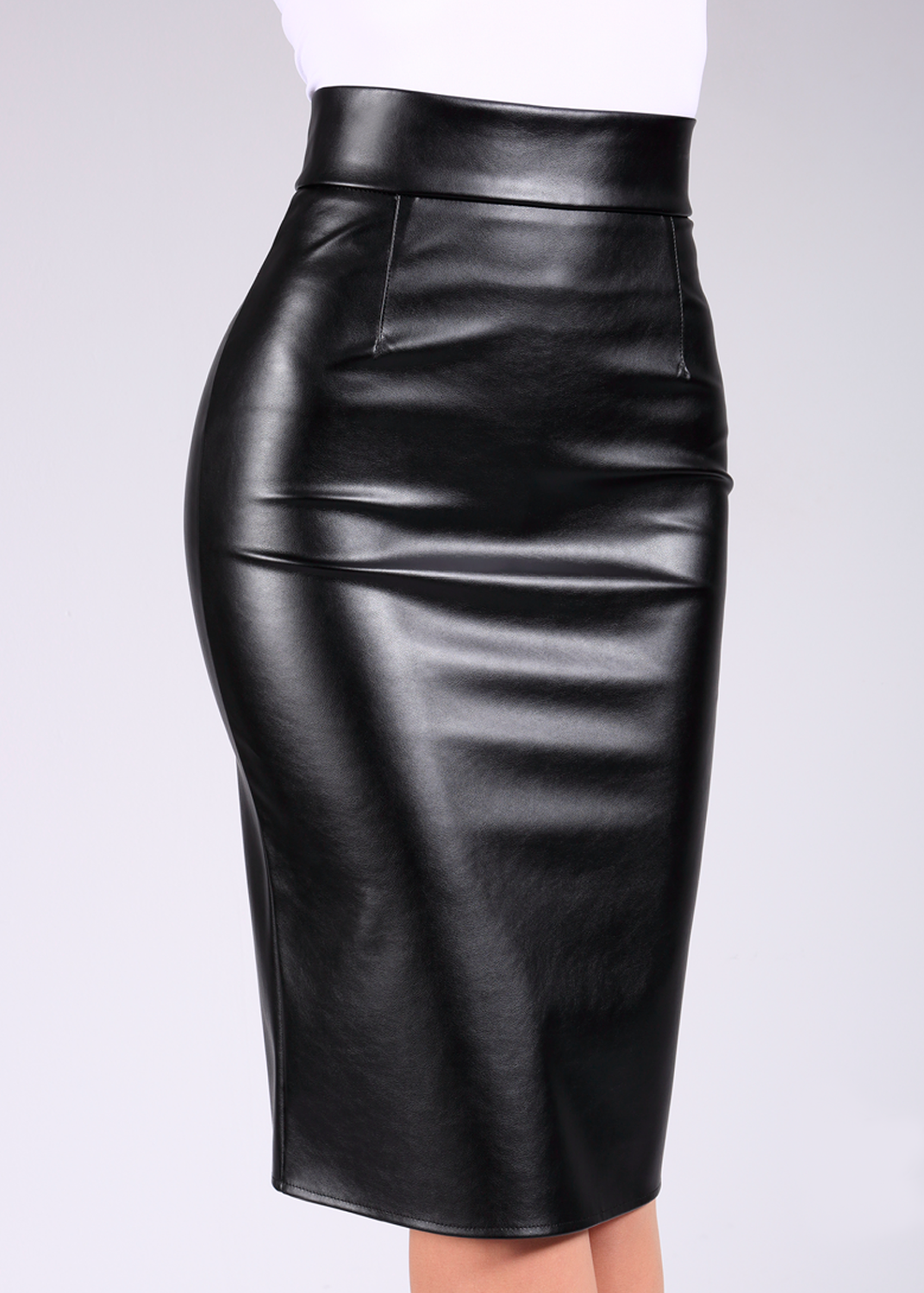 Юбки Pencil skirt leather model 1