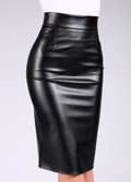 PENCIL SKIRT LEATHER 01 model 1 (фото 1)