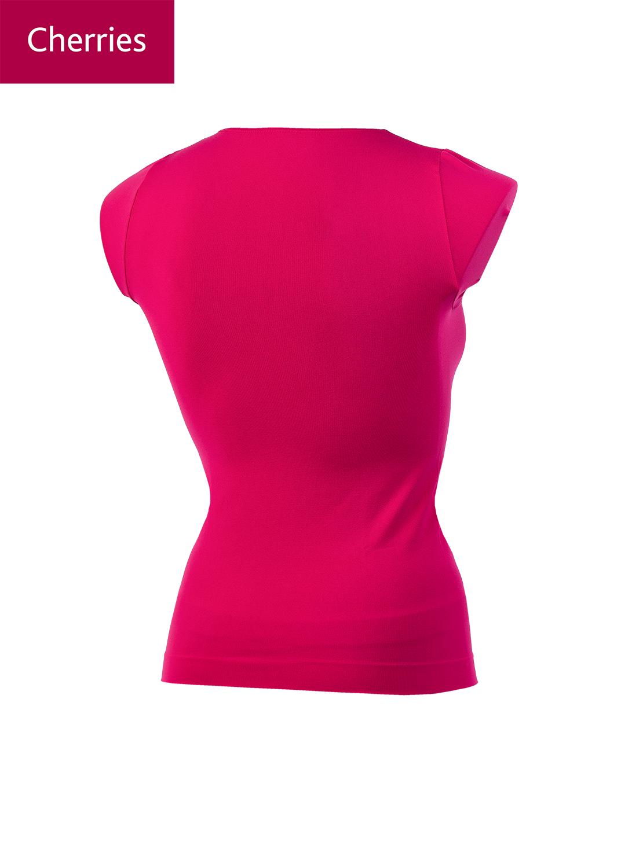 Футболки женские T-shirt scollo tondo manica corta light вид 1