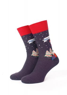 Мужские меланжевые тематические носки ТМ GIULIA MS3M/Sl-NEW YEAR-004