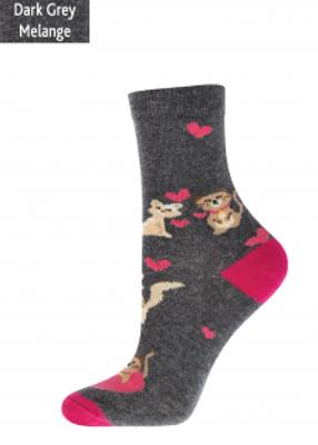 Женские теплые носки с рисунком TM GIULIA WSL-021 MELANGE calzino