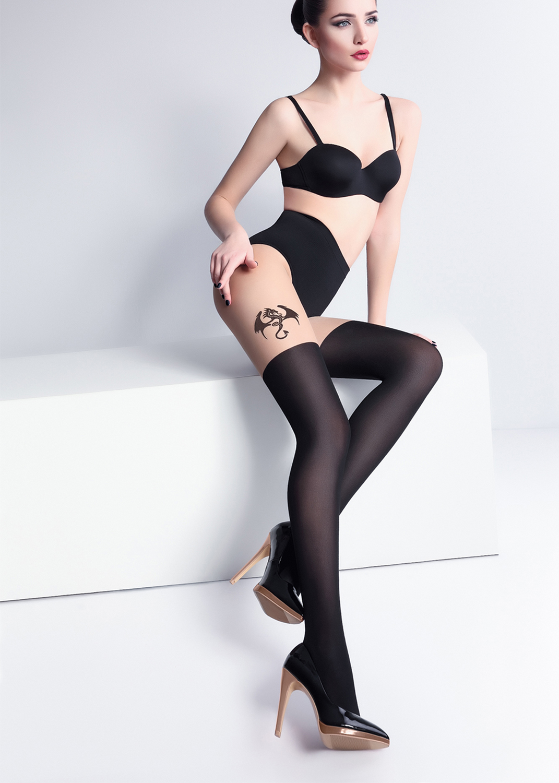 Колготки с рисунком Pari tatoo 60 model 1