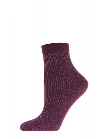 Женские носки в блестящюю полосочку TM GIULIA MLN-03 (Lurex) calzino 60