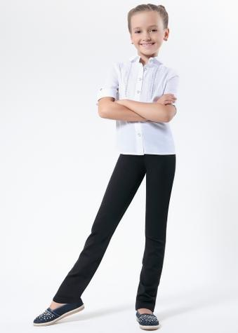Теплые классические леггинсы-брюки с высокой талией ТМ GIULIA UNIVERS TEEN GIRL