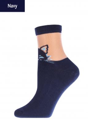Женские носки с рисунком котика TM GIULIA WSM-020 calzino