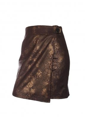 Юбка с запахом ТМ Giulia SKIRT STYLE LEATHER PRIVATE