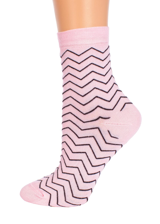 Носки женские носки с зигзагом cl-08