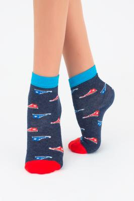 Дитячі шкарпетки з малюнком кедів TM GIULIA KSL-008 MELANGE calzino