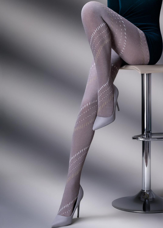 Теплые колготки CLARA MELANGE 200model 3