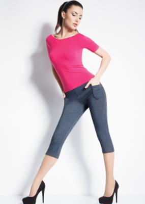 Леггинсы-капри в джинсовом стиле ТМ GIULIA CAPRI JEANS