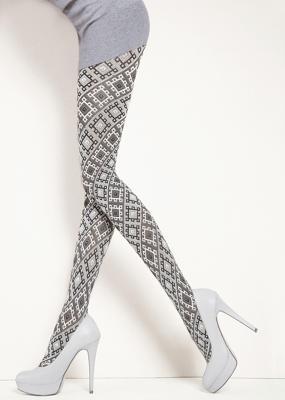 Теплые колготки с геометрическим рисунком TM Giulia FANCY 120
