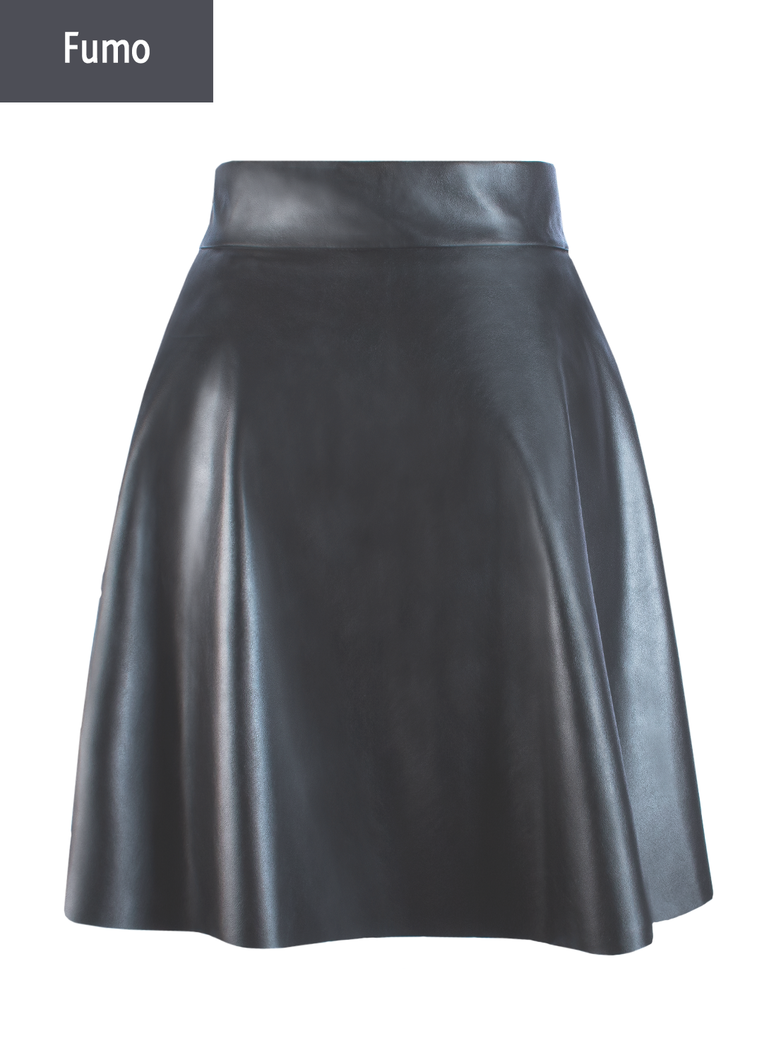 Юбки Mini skirt leather model 1 вид 6