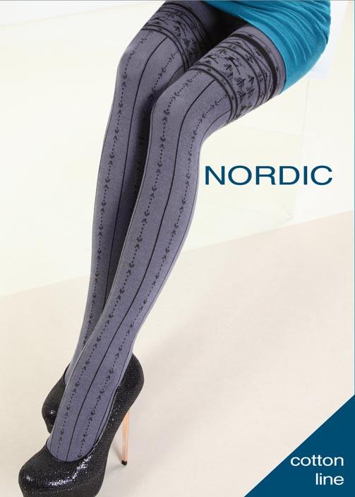 Колготки с рисунком NORDIC 150 model 9