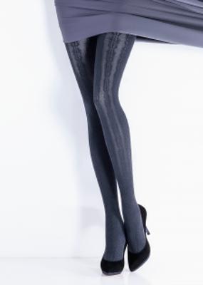 Колготки с вертикальным цветочным рисунком TM Giulia ALMA 120