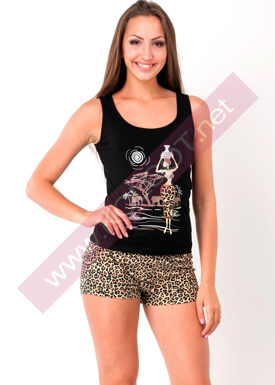 Домашняя одежда Домашний комплект майка + шорты Tiger01602ПВ