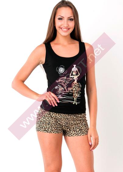 Домашняя одежда Домашний комплект майка + шорты Tiger 01602ПВ- купить в Украине в магазине kolgot.net (фото 1)