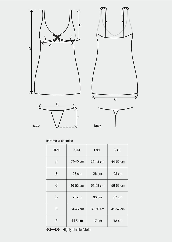 Эротическое белье Caramella chemise вид 2