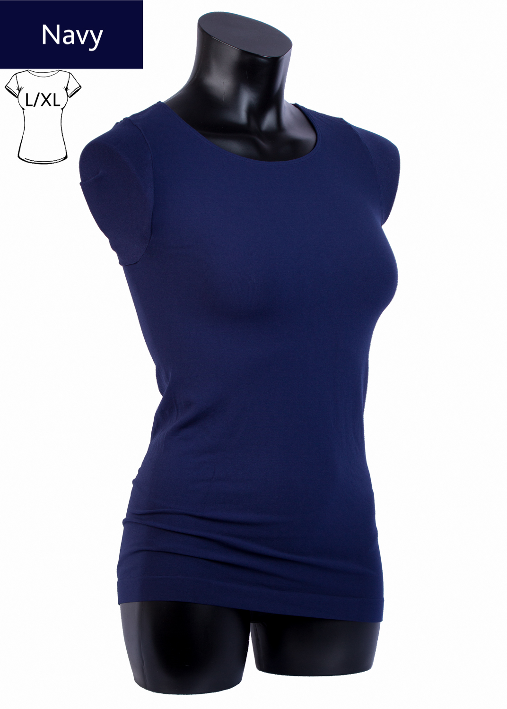 Футболки женские T-shirt scollo tondo manica corta вид 3