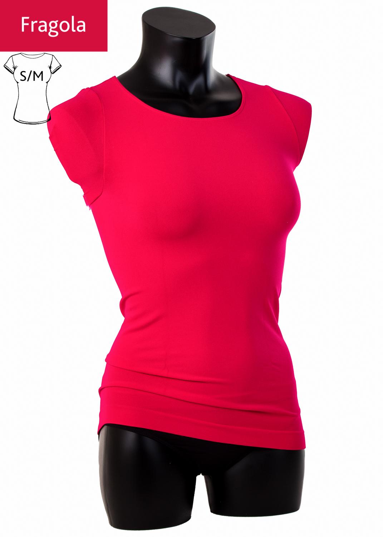 Футболки женские T-shirt scollo tondo manica corta вид 6