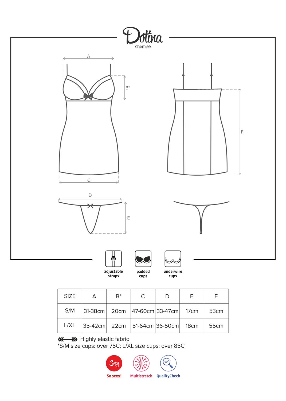 Эротическое белье Dotina chemise вид 6