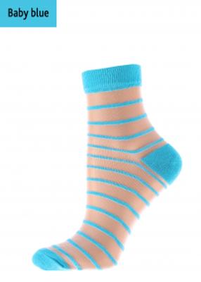 Жіночі шкарпетки прозорі в смужку TM GIULIA WSM-003 calzino