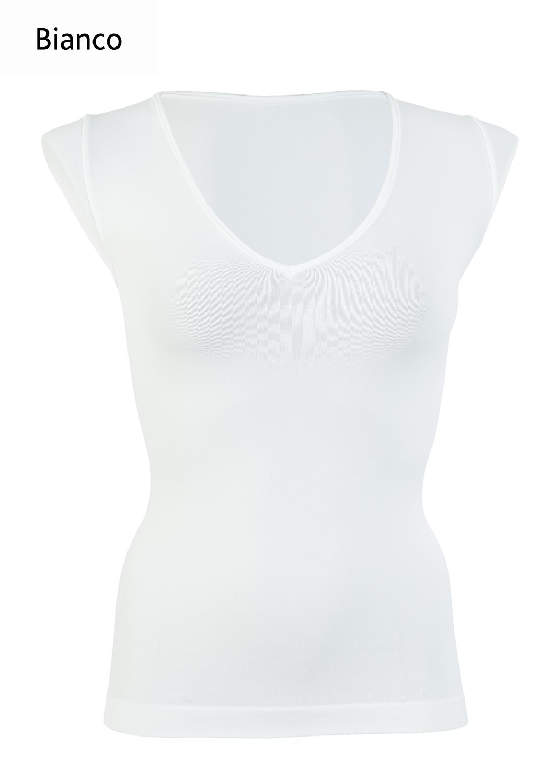 Футболки женские T-shirt scollo v manica corta вид 8