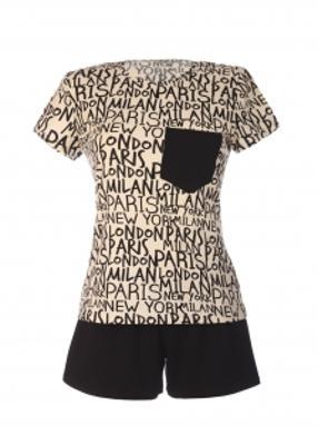 комплект (футболка с шортами) для домашнего отдыха TM GIULIA SITY 6102/010