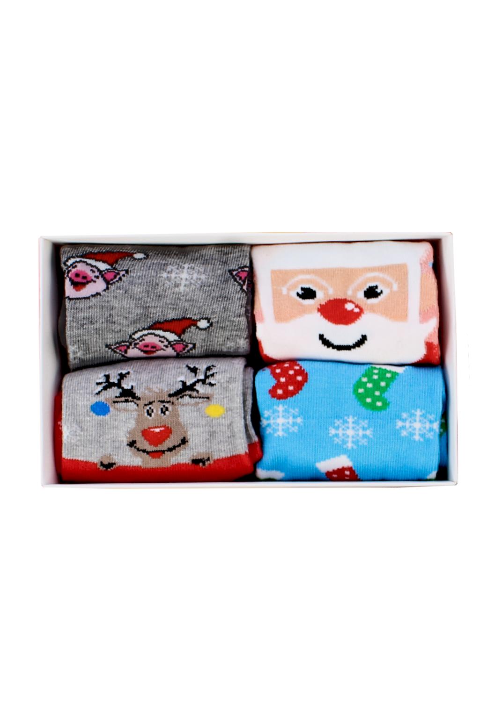 Носки женские носки 4 пары wsl new year's socks 01 box