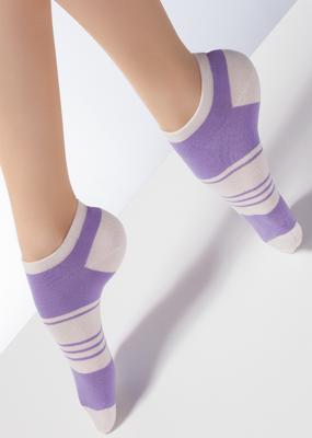 Хлопковые спортивные носки с поперечным рисунком TM GIULIA CS-02