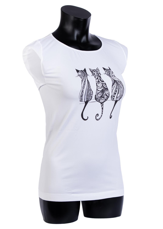 Футболки женские T-shirt s/t manica corta light print p0019