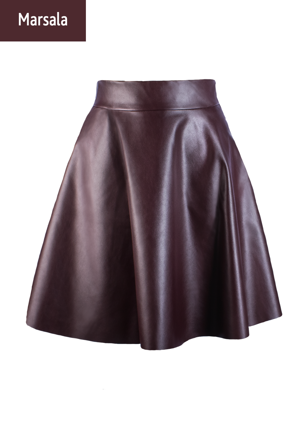Юбки Mini skirt leather model 1 вид 2