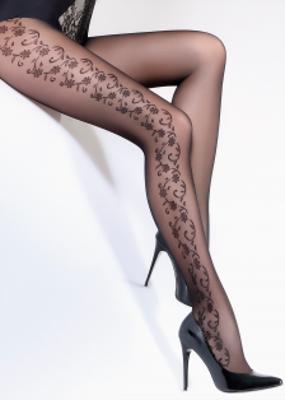Фантазийные колготки с мелким цветочным рисунком TM GIULIA FLORY 40