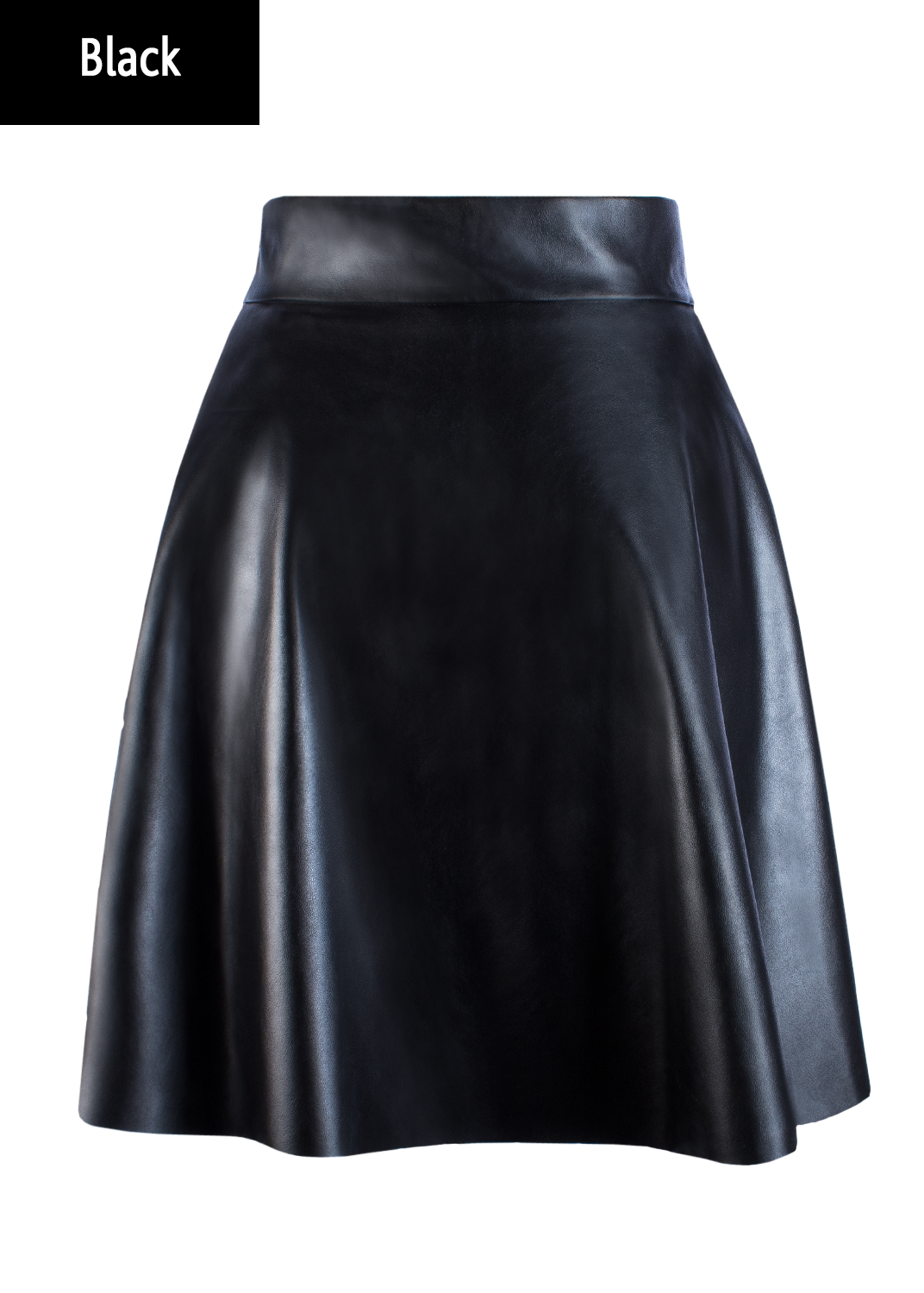 Юбки Mini skirt leather model 1 вид 1