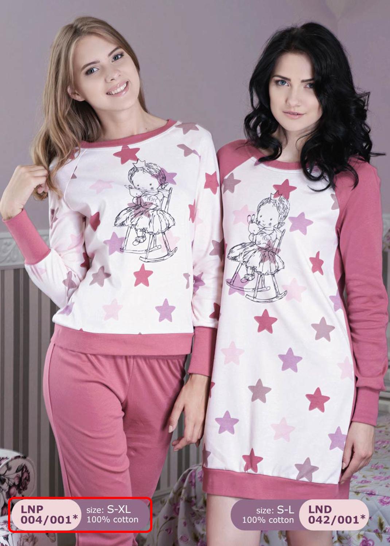 Домашняя одежда женская пижама lnp 004/001