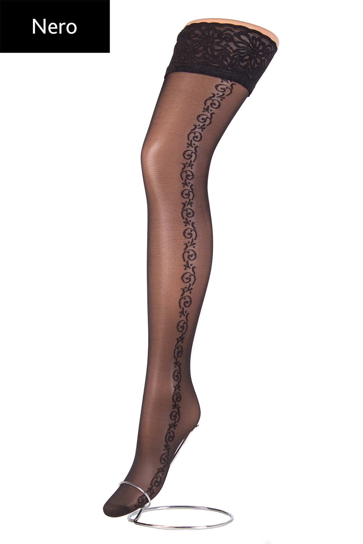 Чулки с рисунком Allure 20 model 5 вид 4