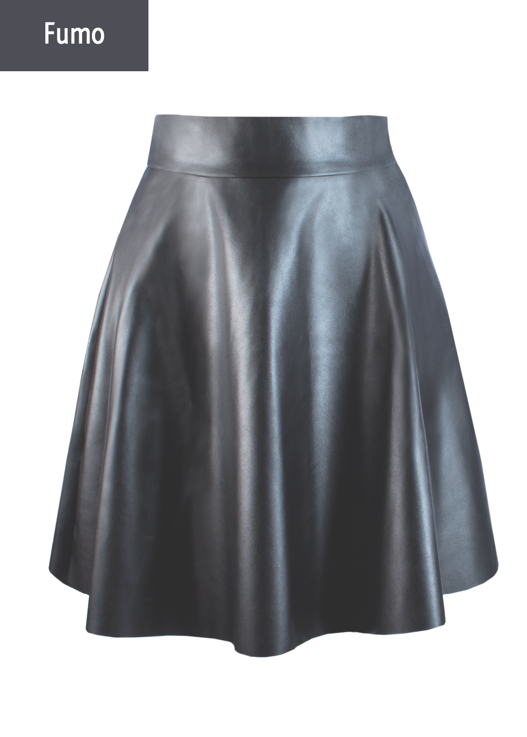 Юбки Mini skirt leather model 1 вид 5