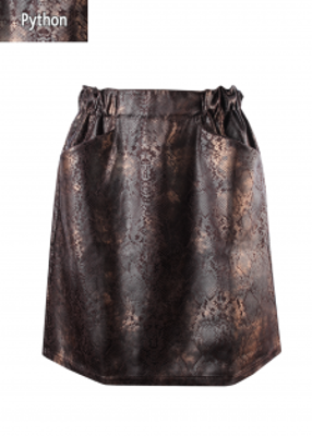Юбка из кожи питона ТМ GIULIA SKIRT CASUAL LEATHER PRIVATE