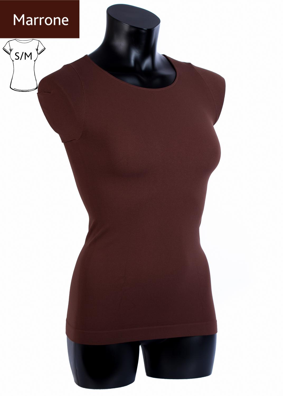 Футболки женские T-shirt scollo tondo manica corta вид 4