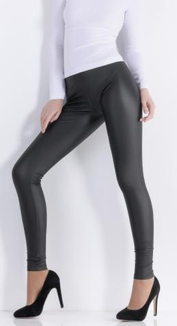 Утепленные леггинсы из искусственной кожи ТМ GIULIA LEGGY STRONG model 8